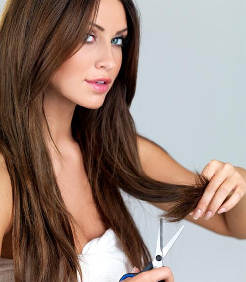 trị tóc chẻ ngọn tại nhà